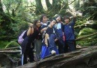 2010年研究室旅行 屋久島にて