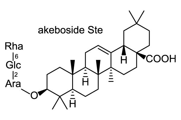 アケビ 化学構造式1