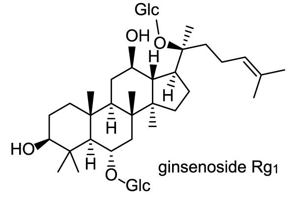 オタネニンジン 化学構造式1
