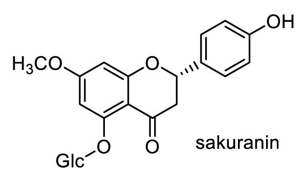 カスミザクラ 化学構造式1