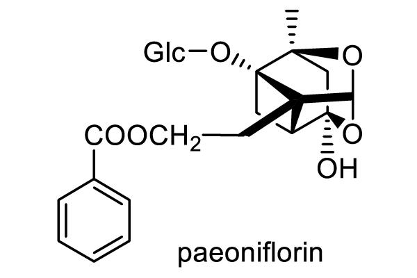 シャクヤク 化学構造式1