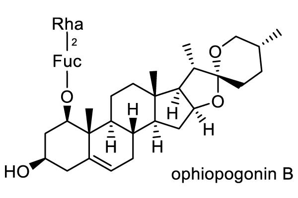 ジャノヒゲ 化学構造式1