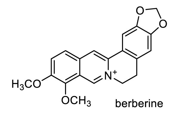 セリバオウレン 化学構造式1