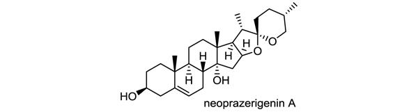 アマドコロ 化学構造式1