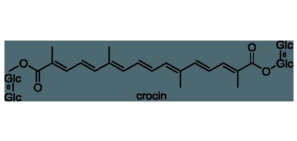 サフラン 化学構造式1