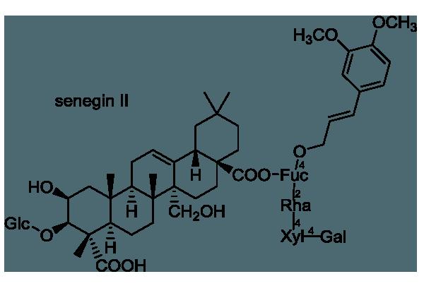ヒロハセネガ 化学構造式1