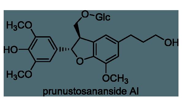 ユスラウメ 化学構造式1