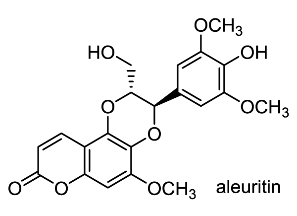 オオアブラギリ 化学構造式1