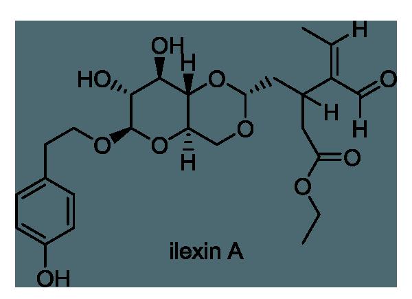 クロガネモチ 化学構造式1
