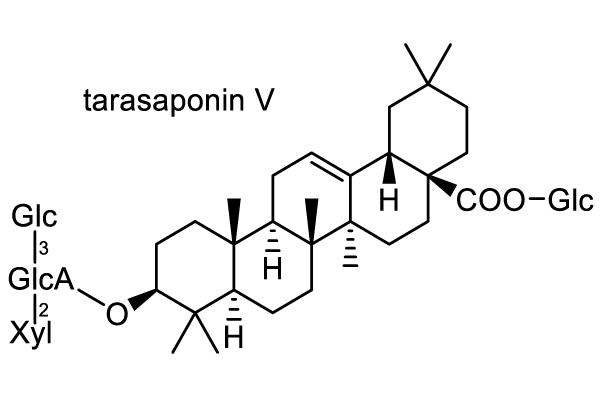 タラノキ 化学構造式1