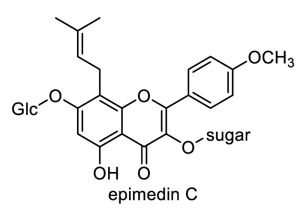 ホザキイカリソウ 化学構造式1