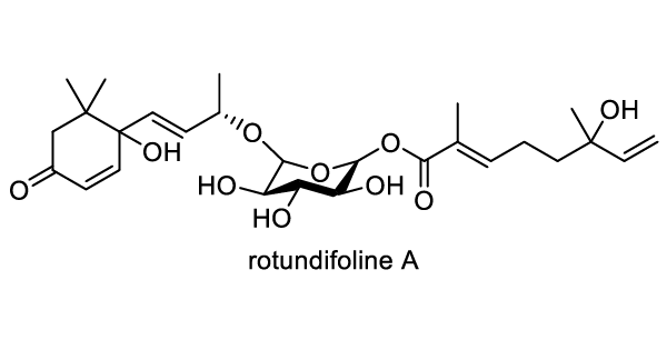 ホザキキカシグサ 化学構造式1