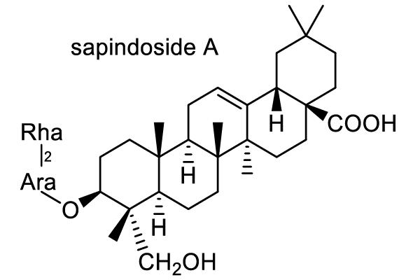 ムクロジ 化学構造式1