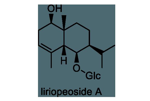 ヤブラン 化学構造式1