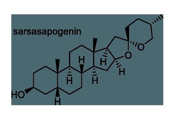 スミラックス・アリストロキーフォリア 化学構造式1