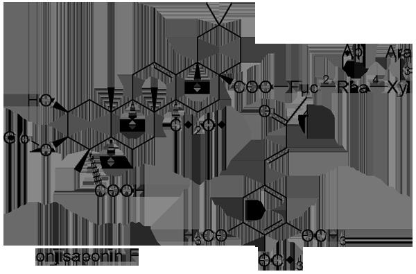 イトヒメハギ 化学構造式2