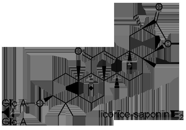 ウラルカンゾウ 化学構造式2