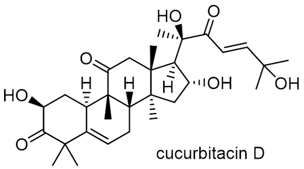 オオカラスウリ 化学構造式2