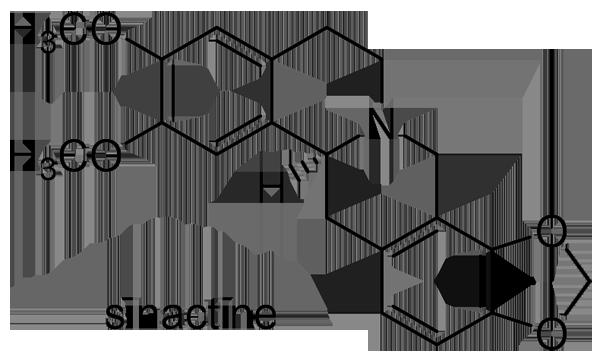 オオツヅラフジ 化学構造式2