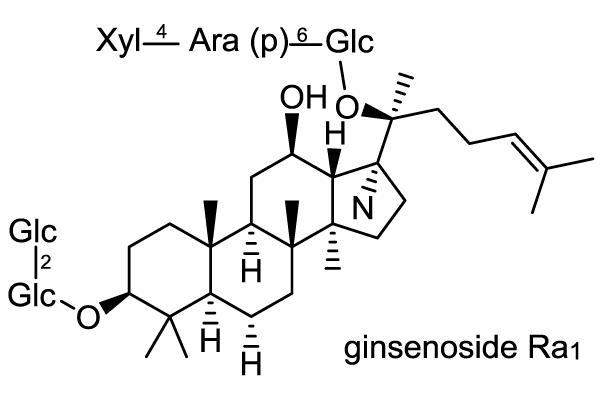 オタネニンジン 化学構造式2