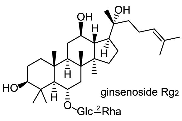 オタネニンジン 化学構造式3