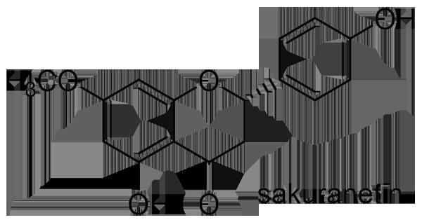 カスミザクラ 化学構造式2