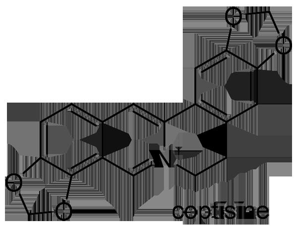 キクバオウレン 化学構造式2