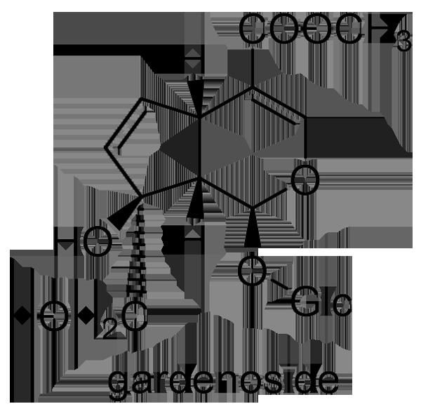 クチナシ 化学構造式2