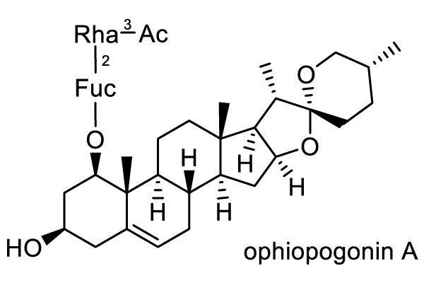 ジャノヒゲ 化学構造式2