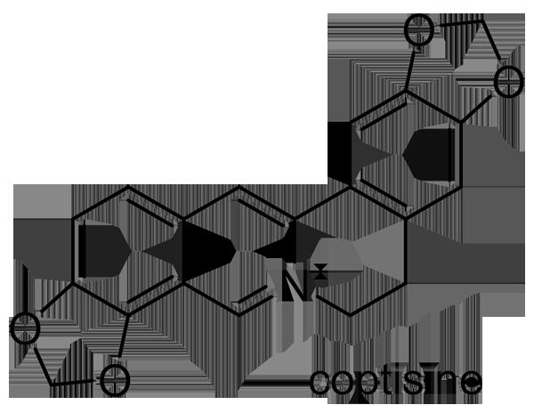 セリバオウレン 化学構造式2