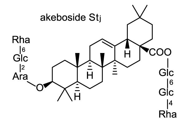 ミツバアケビ 化学構造式2