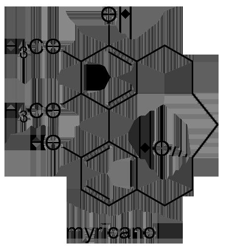 ヤマモモ 化学構造式3