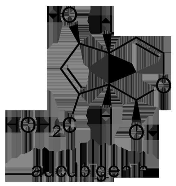 アオキ 化学構造式2