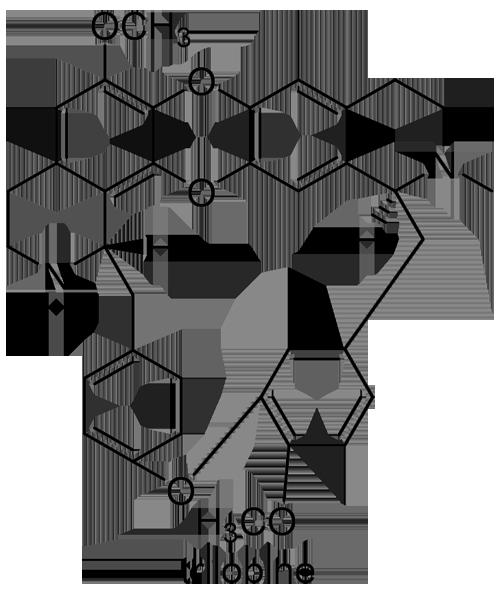 アオツヅラフジ 化学構造式2