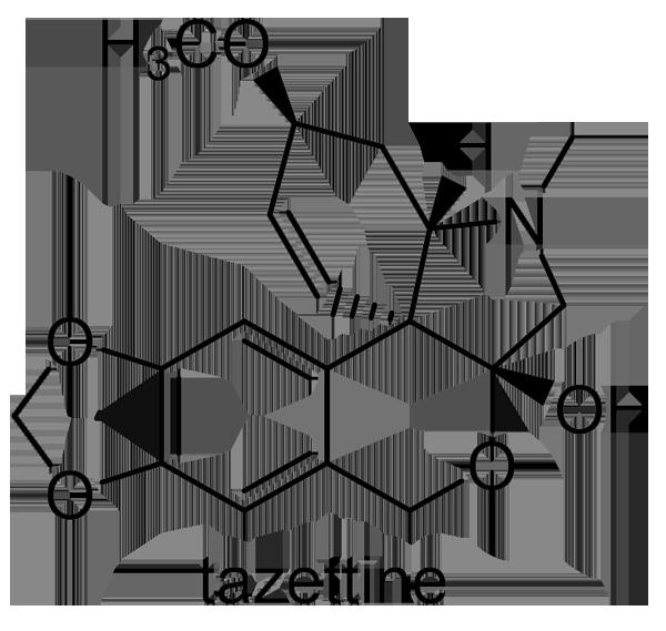 スイセン 化学構造式3