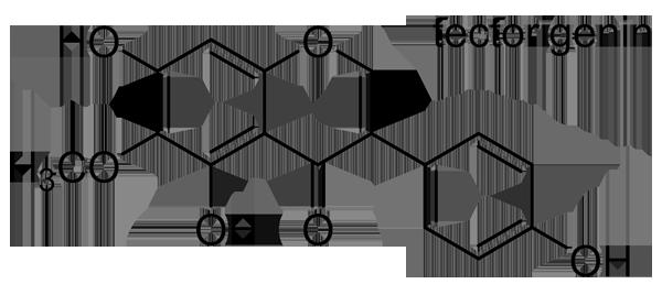 ヒオウギ 化学構造式2