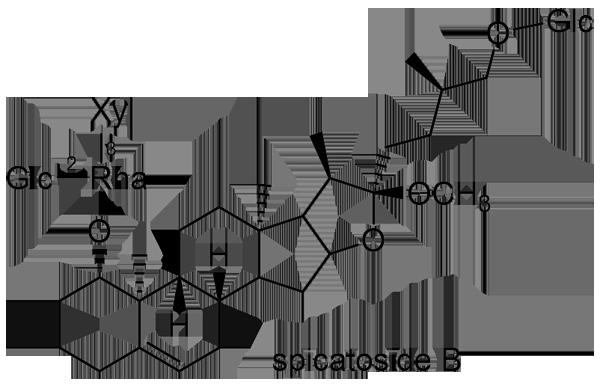 コヤブラン 化学構造式2