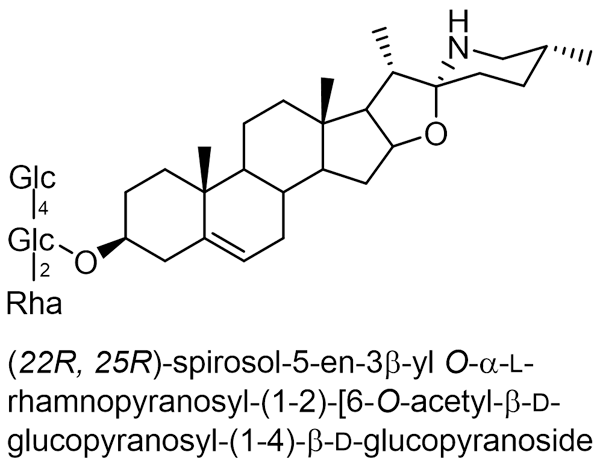 テッポウユリ 化学構造式2