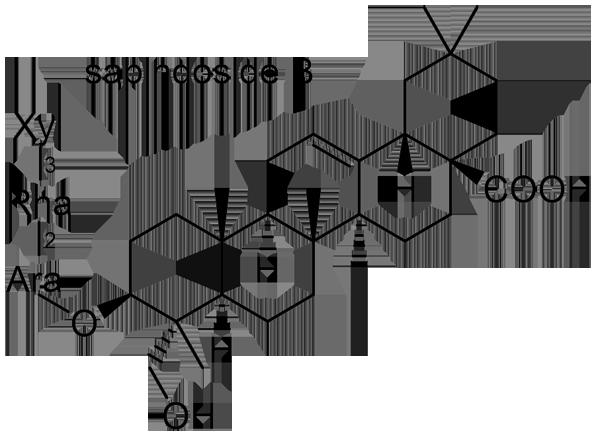 ムクロジ 化学構造式2
