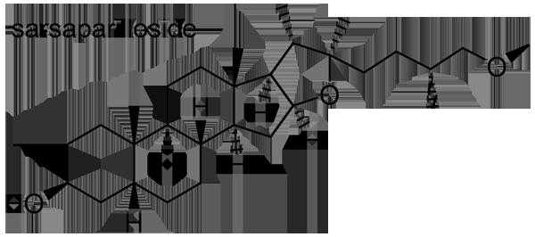 スミラックス・アリストロキーフォリア 化学構造式2