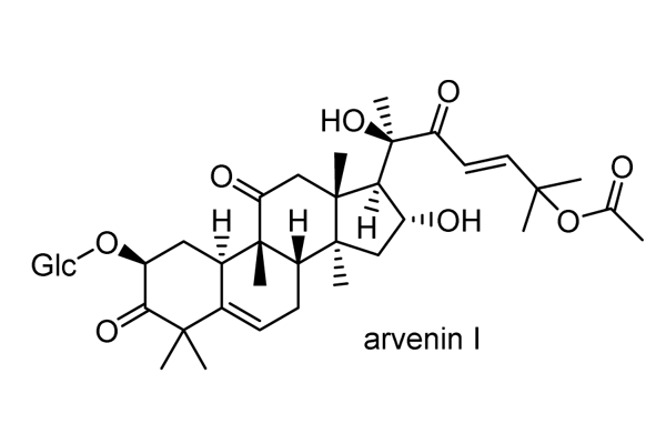 ルリハコベ 化学構造式1