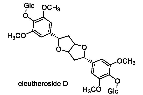 エゾウコギ 化学構造式1