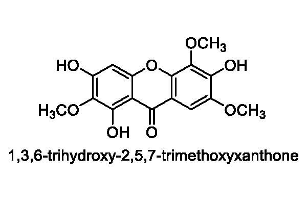オオホシクサ 化学構造式1