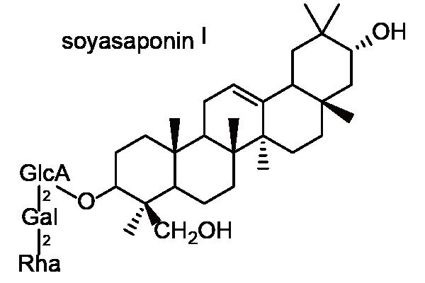 ダイズ 化学構造式1
