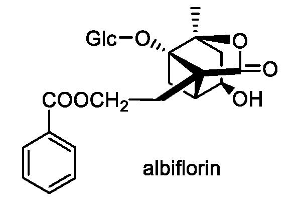 ヤマシャクヤク 化学構造式1